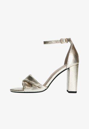 MIT HOHEM ABSATZ - Sandalen met hoge hak - gold