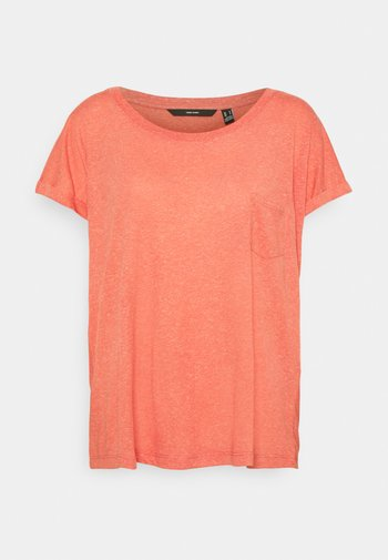 VMLUA TEE - T-shirts med print - spiced coral