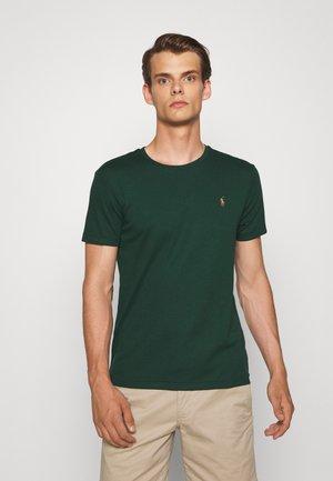 CUSTOM SLIM SOFT TEE - Basic T-shirt - college green
