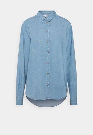 SLFTIME SHIRT - Button-down blouse - medium blue