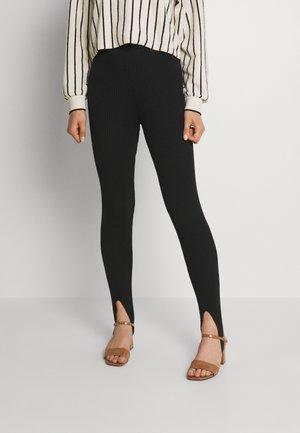 OPEN HEEL - Leggings - Trousers - black