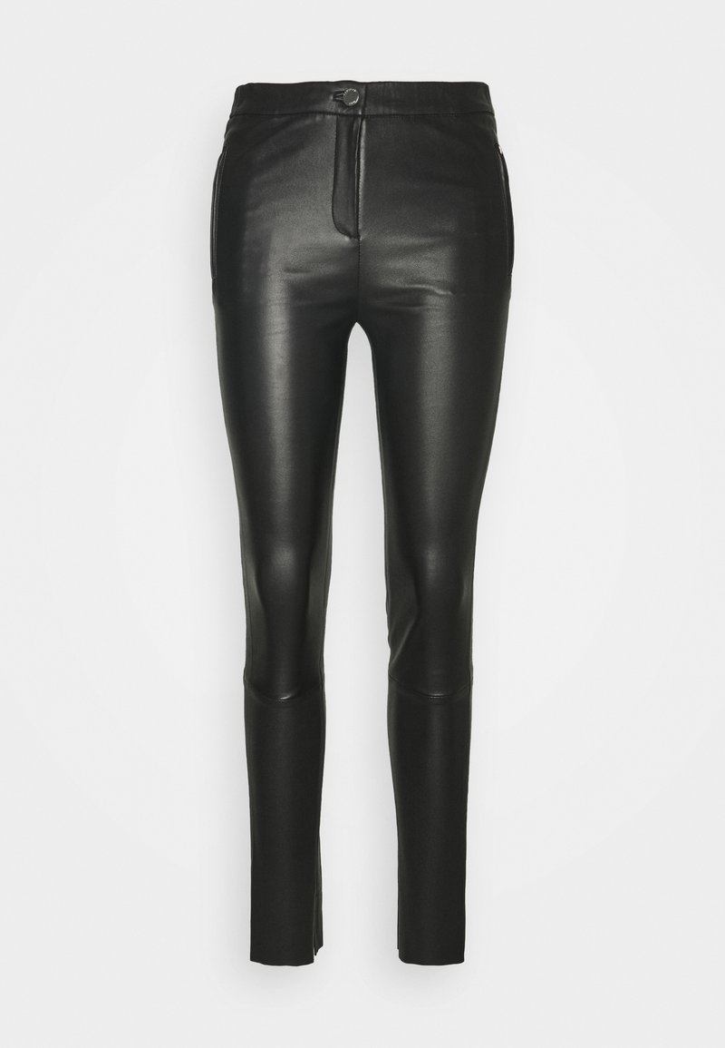 Oakwood - CELESTE - Leather trousers - black