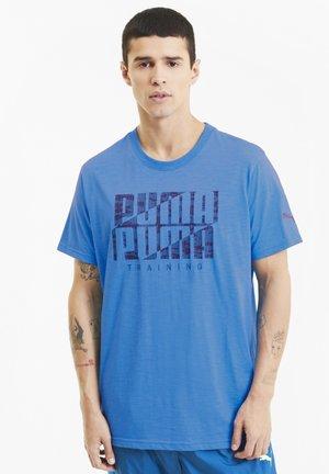 T-shirt con stampa - nrgy blue-digi camo puma