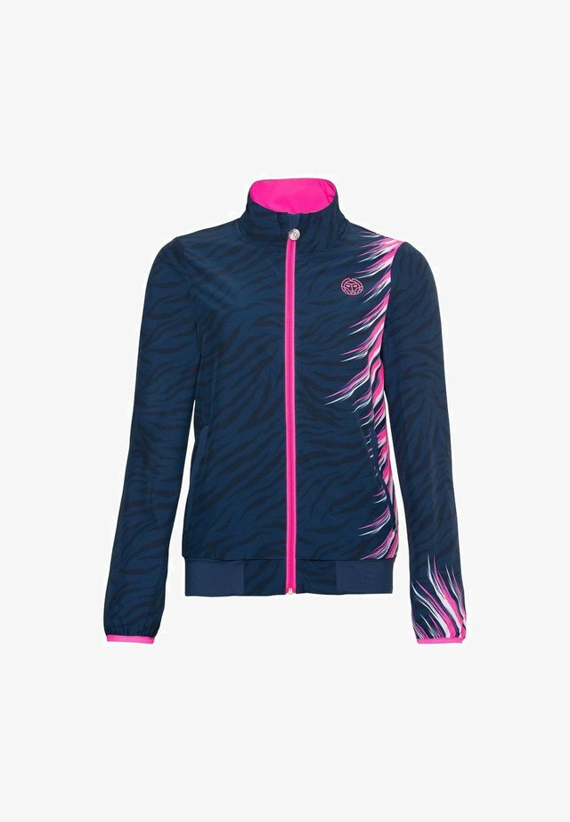 Sports jacket - dunkelblau/pink