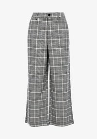 Q/S designed by - KARIERTE CULOTTE - Trousers - black check - 6