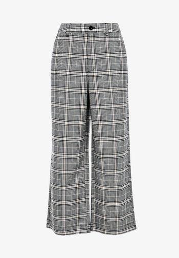 KARIERTE CULOTTE - Trousers - black check