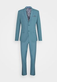 Isaac Dewhirst - PLAIN SUIT SET - Completo - turquoise - 11