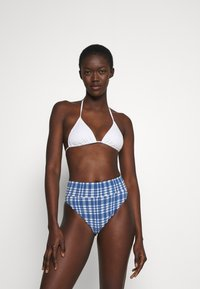 aerie - HI CUT CHEEKY PLAID - Bikini bottoms - jeweled blue - 1