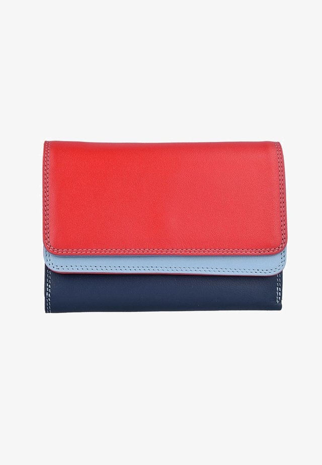 DOUBLE FLAP - Portemonnee - blue