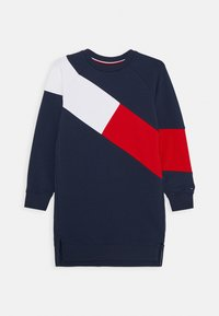 Tommy Hilfiger - FLAG BLOCKING DRESS - Denní šaty - blue - 0