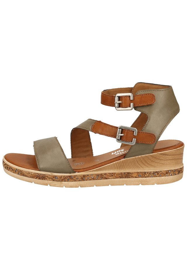 Sandały na platformie - forest/cayenne 54