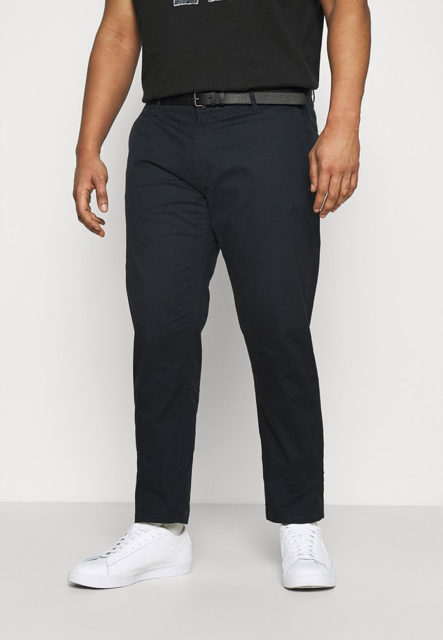 MEN'S WITH BELT - Chino - navy