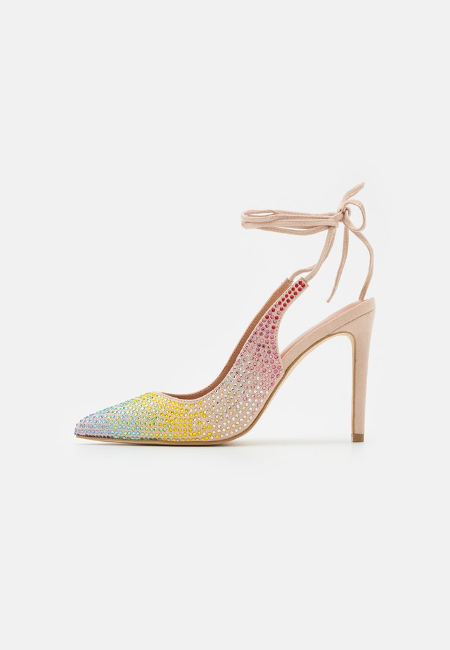 DECOLLETE ALTO ALLACCIATA CAVIGLIA - Zapatos de salón con cordones - rainbow