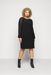 Evans - BLACK SPOT DRESS - Day dress - black - 0