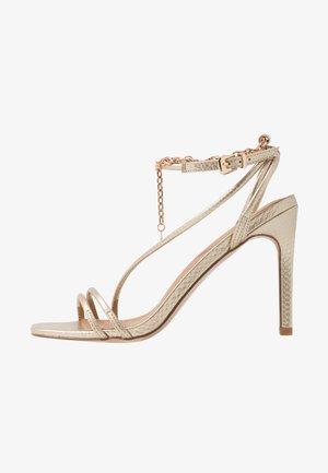 PATTI - Sandaler med høye hæler - gold