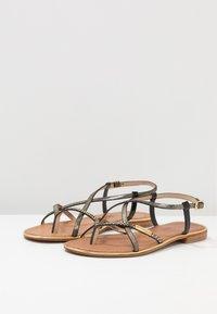 Les Tropéziennes par M Belarbi - MONACO - T-bar sandals - black/gold - 4