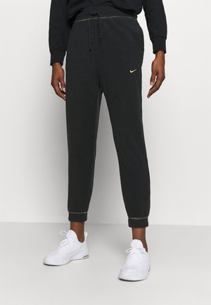 Joggebukse - black/metallic gold