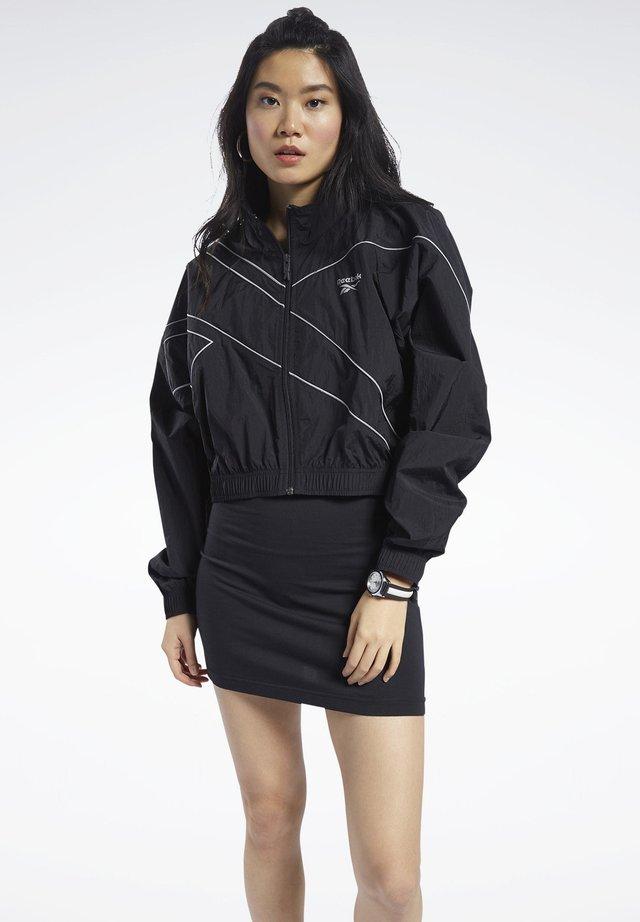 CLASSICS CROPPED TRACK TOP - Training jacket - black