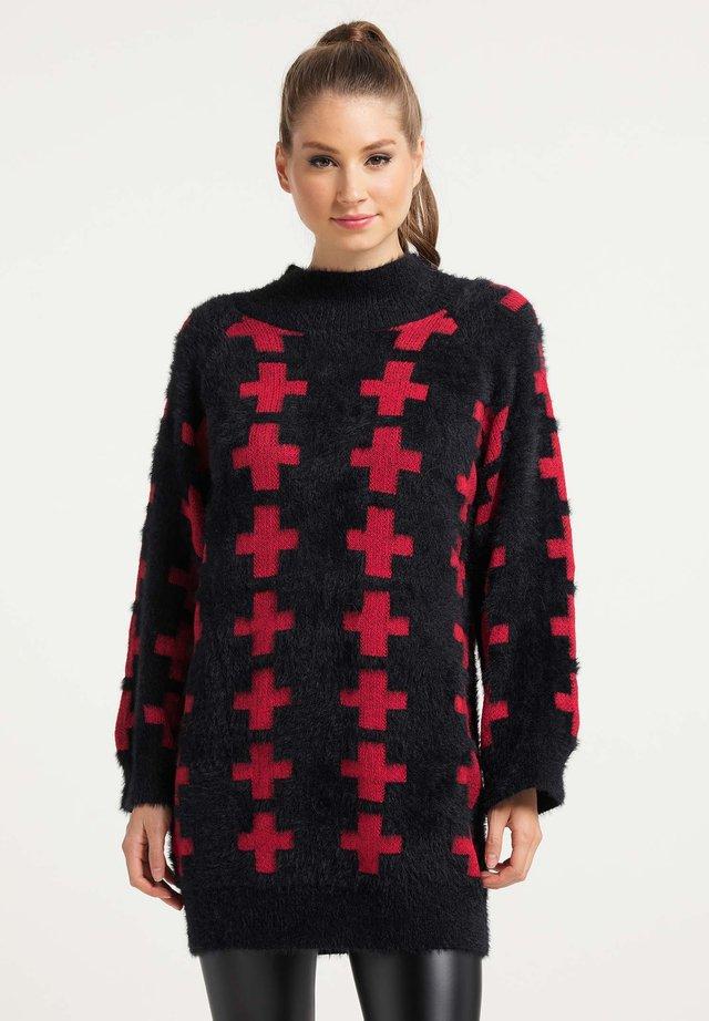 Maglione - schwarz rot