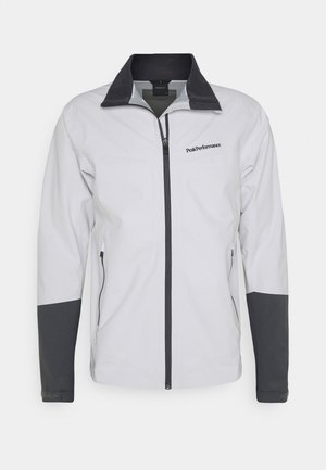 VELOX JACKET - Hardshellová bunda - light grey