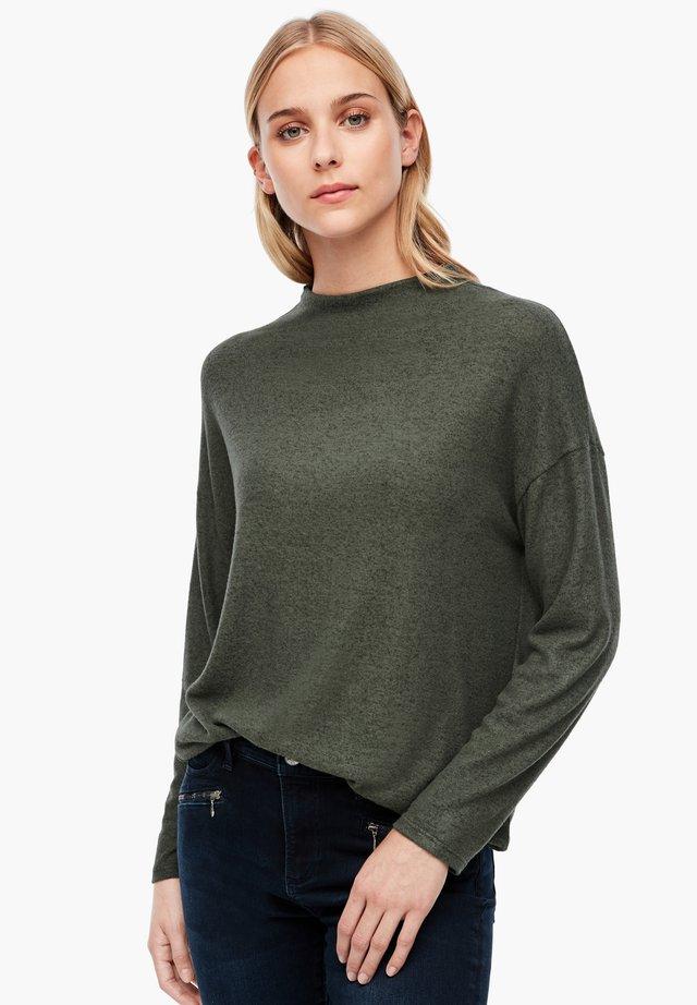 Long sleeved top - khaki melange