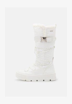 Platform boots - white