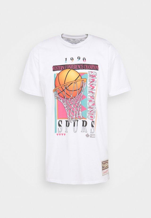 NBA SAN ANTONIO SPURS VIBES TEE - Club wear - white