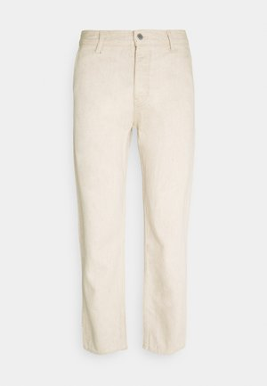 BARREL CROPPED TROUSERS - Jean boyfriend - beige