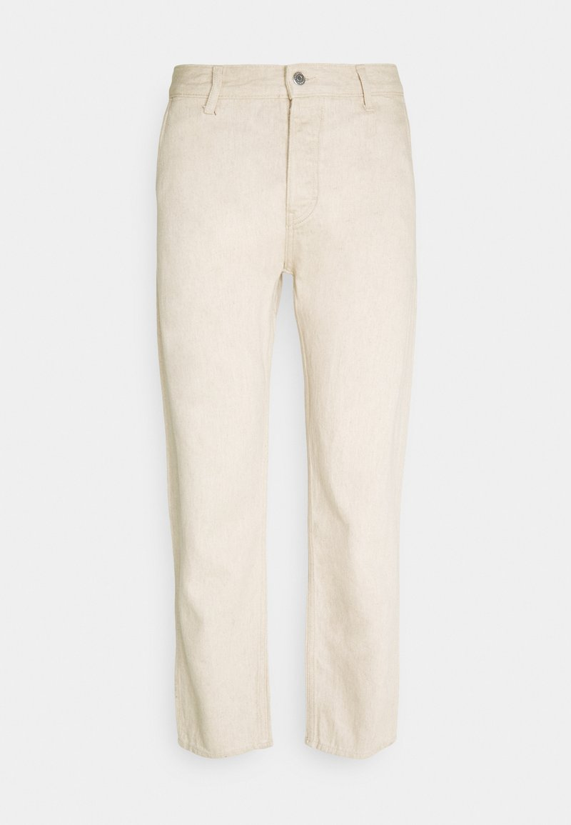 Weekday - BARREL CROPPED TROUSERS - Relaxed fit jeans - beige