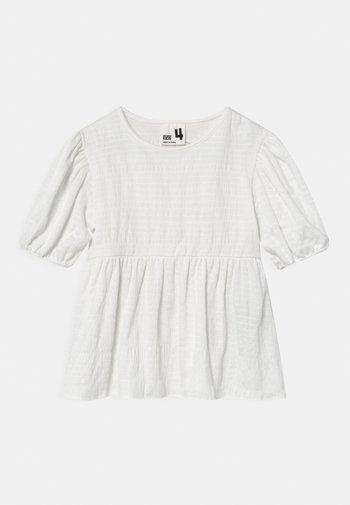 CARLA PUFF SLEEVE - Print T-shirt - vanilla