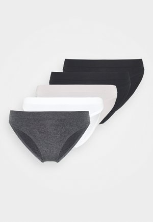 ROSANNE 5PACK - Briefs - black/ivory/grey/black
