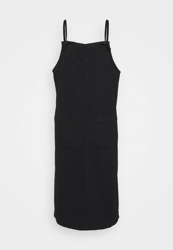 MONICA DRESS - Dongerikjole - black dark