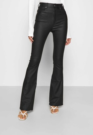 MOXY FLARE - Trousers - black metal