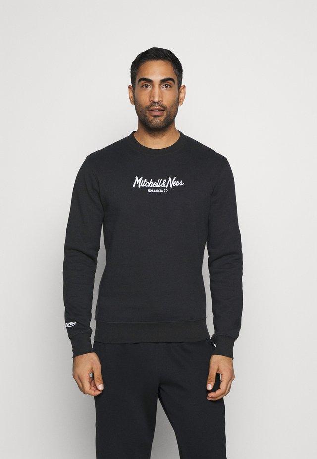 OWN BRAND PINSCRIPT CREW - Sweatshirts - black
