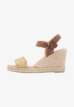Sandalias de tacón - Amarillo