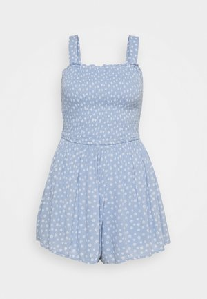 SMOCKED BODICE ROMPER - Jumpsuit - blue