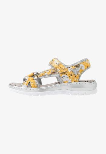 Sandals - yellow/multicolor/silver