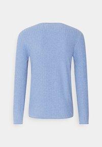 Jack & Jones PREMIUM - JPRMARCELKNIT CREW NECK - Stickad tröja - dusk blue - 1