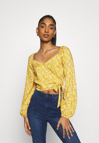 Hollister Co. - Blusa - yellow floral - 0