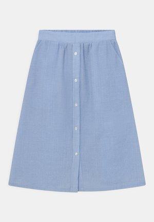 JOAN CHECK - A-line skirt - light blue