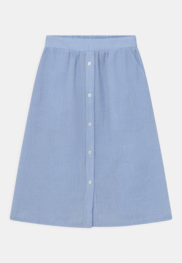 JOAN CHECK - Áčková sukně - light blue
