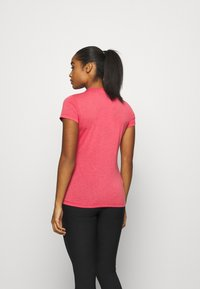 Salewa - SOLID TEE - Print T-shirt - virtual pink melange - 2