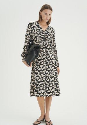 HENRY - Jersey dress - black flower contur