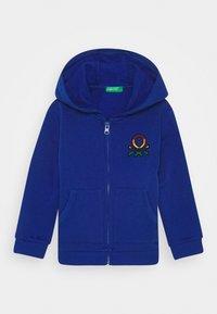 Benetton - JACKET HOOD - Mikina na zip - blue - 0