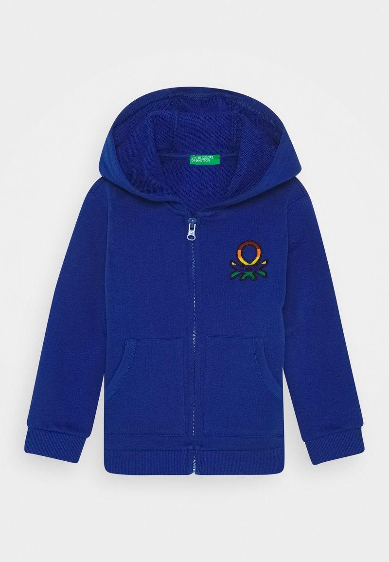 Benetton - JACKET HOOD - Mikina na zip - blue