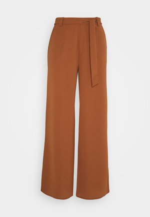 ONLNOVA PALAZZO PANT SOLID - Trousers - tortoise shell