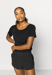 Cotton On Body - LONGLINE OPEN BACK - Camiseta básica - black - 2