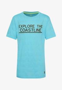 WE Fashion - MIT STRUKTURMUSTER - Camiseta estampada - light blue - 0