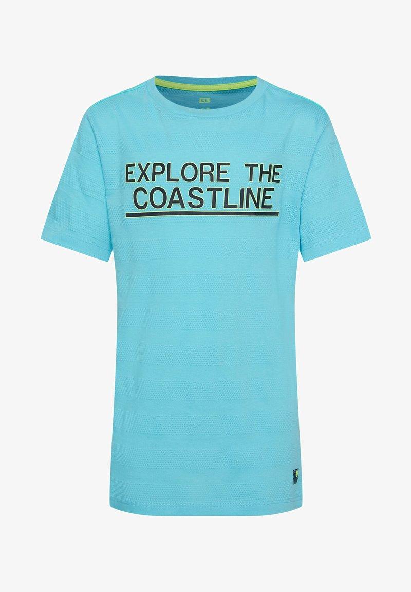 WE Fashion - MIT STRUKTURMUSTER - Camiseta estampada - light blue