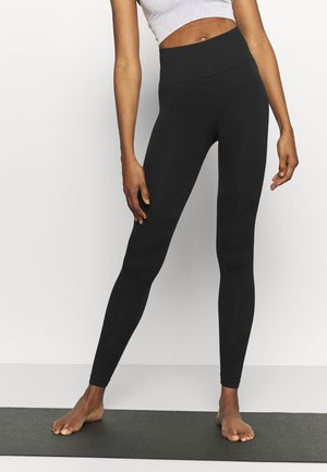 SEAMLESS BLOCKED - Leggings - black